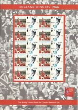 BOBBY MOORE ENGLAND WINNER CANCER RESEARCH STAMP SHEET