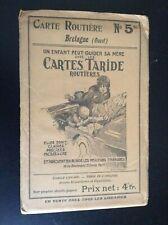 Ancienne carte routière Taride N° 5 bis Bretagne Ouest TBE