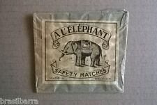 """EMBALLAGE ANCIEN D'ALLUMETTES BELGES """"A l'éléphant"""""""