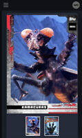 Godzilla Topps NFT Series 1 Rare Red Kamacuras Mint #38/1086 Low Number