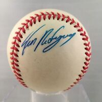 Ivan Rodriguez Rookie Signed Official American League Baseball PSA DNA #AA1706