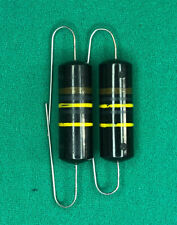 Sprague Bumble Bee Capacitors Vintage .1 uF @ 400v 10% Pulls w/Ext Leads Qty. 2