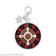Tingle Sterling Silver Charm Clip on Roulette Wheel with Gift Box and Bag SCH279