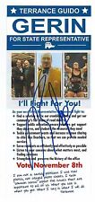 RHYNO TERRY GERIN SIGNED MICHIGAN STATE REPRESENTATIVE PROMOTIONAL FLYER WWE