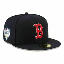 New Era Boston Red Sox  2018 World Series Fitted Hat 59Fifty Hat Cap New