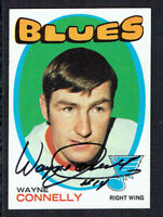 Wayne Connelly #127 signed autograph auto 1971-72 Topps Hockey Trading Card