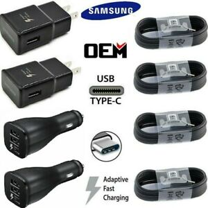Original Samsung Galaxy Note10 S8 S9 S10 Plus Fast Car Wall Charger Type-C Cable