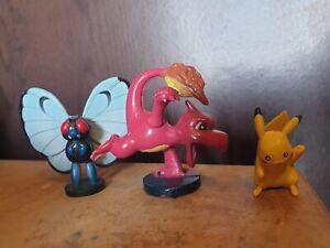 BUTTERFREE, CHARMELEON & PIKACHU Pokemon Figures Tomy 2 Inch