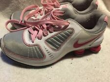Used/Worn Nike Shox Turbo 10 Girls size 6 Y running shoes Pink Silver