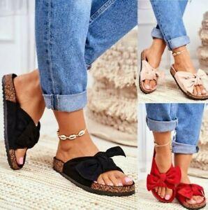 Femmes Paltes Été Femmes Noeud Tongs Mule à Enfiler Mode Sandales Chaussures