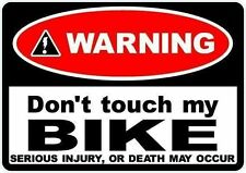 2 X advertencia No toque mi bicicleta Decal Sticker Moto Scooter Motocicleta