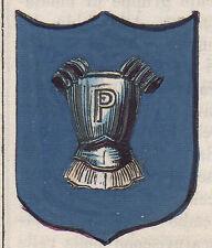 1865 Stemma di Pettorano sul Gizio (araldica civica), L'Aquila, litografia