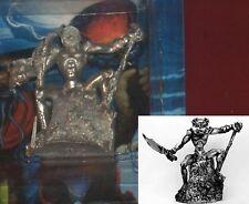 Ral Partha Df-077 Lizard Man on Rock Throne Evil Toad Lord on Pedestal Warrior