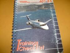 Canadair Challenger 601-3A Pilot's Training Checklist