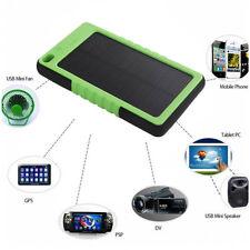 CARICABATTERIE SOLARE UNIVERSALE 12000 MAH PANNELLO USB MP4 MP3 IPHONE SAMSUNG
