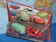 DISNEY PIXAR CARS 2 RACE TEAM FILLMORE & LIGHTNING McQUEEN 2 PACK *BRAND NEW*
