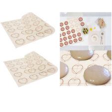 2 pcs tapis de cuisson en silicone macaron plaques de cuisson plaques de