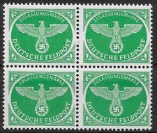 Germany's 3rd Reich 1944  Mi# 4 Fieldpost Stamp for Christmas MNH Block of 4 **