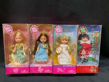 """NEW !! Lot of 4 ~ Mattel Barbie KELLY Dolls ~ 5"""" Tall ~ MINT !!"""