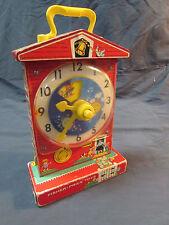1960's Fisher Price Toys Music Box School Teaching Clock 998