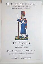 Vintage Imagerie Pellerin/Ville de Neufchateau pochoir print Ingres PaperINV2281