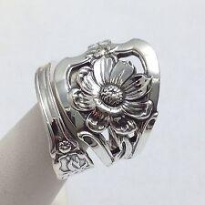 STERLING, Spoon Ring, Watson, Jewelry, Flower, Gift, Love, Nature  (Bin # 168)