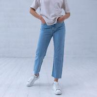 Levi's Wedgie Gerades Bein Damen hellblau Mom Jeans DE 34 / W27