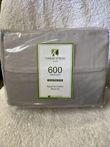 Thread Spread 600 Ct Egyptian Cotton King Sheet Set