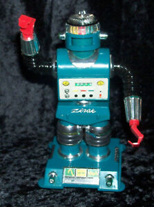 VINTAGE 1968 IDEAL ZEROIDS Zerak - Outer Space Robot Toy - Incomplete