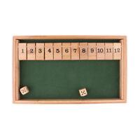 Holz Würfelspiel Klappenspiel Brettspiel für Shut the Box Spiel für Kinder