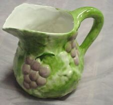 SAN MARCO NOVE WATER PITCHER RAISED GRAPE & LEAF DESIGN *MADE IN ITALY* #2