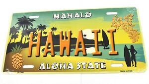 USA Auto Nummernschild License Plate Deko Blechschild Hawaii Mahalo Aloha State