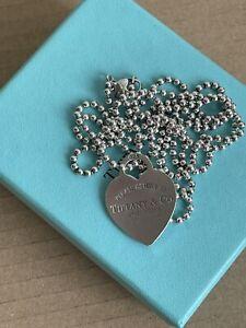 Collana a palline Tiffany e Co Originale argento   Con Cuore Codice