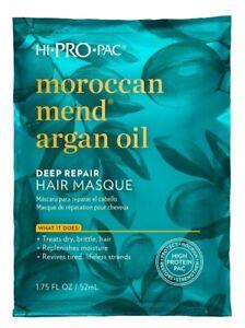 HI PRO PAC Moroccan ARGAN OIL For HAIR MASQUE REPAIR HAIR THREATMENT 1.75FLOZ.