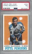 1970 OPC hockey card #206 Lowell MacDonald, Pittsburgh Penguins graded PSA 7