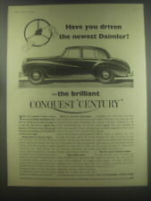 1954 Daimler Conquest Century Car Ad - Have you driven the newest Daimler?