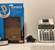 Casio Hr-100Tm Plus Mini Desktop Printing Calculator w Adapter Tested And Works