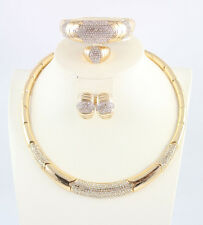 18k Gold Plated Mysterious Charming Necklace Fashion Wedding Bridal Jewelry Sets