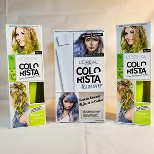 2 Loreal Colorista Hair Color Lime Green - 1 Colorista Remover - For Blondes