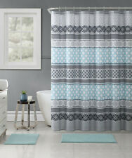 VCNY Home 14 Pc. Complete Hawthorne Geometric Fabric Shower Curtain & Hooks Set