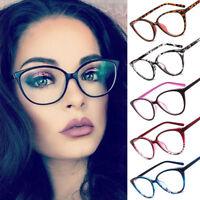 Women Girl Classic Cat Eye Glasses Retro Vintage Style Clear Lens Sunglasses New