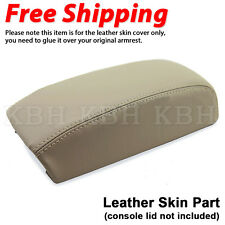 Leather Console Lid Armrest Cover Skin Fits 1993-2000 Volvo S70 V70 C70 850 Tan
