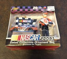 Tony stewart #20 nascar 2003 dated collectible ornament set winners circle