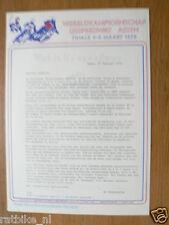 1978 ICESPEEDWAY,FINALE WK IJSSPEEDWAY ASSEN 4/5-3-1978,PRESSE INFO
