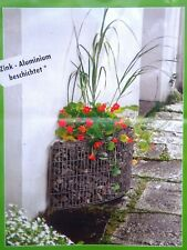belissa Hauswandbeet Hochbeet Steinkorb 118 x 35 x 40 cm Gabione Garten 95590