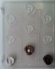 BASEBALL GLOVE WITH BALL BITE SIZE CLEAR PLASTIC CHOCOLATE CANDY MOLD S021