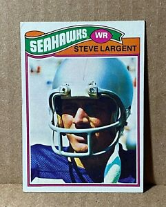 1977 77 Topps STEVE LARGENT Rookie Card RC No. 177 Seattle Seahawks HOF