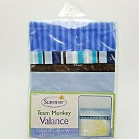 Baby Boys Blue Striped Window Valance 14x48 inch 66330