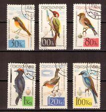 Tschechoslowakei = Mi-Nr. 1495-1500 gestempelt = Vögel
