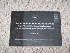 1979 Mercedes Benz 300SD 300 SD Diesel Factory Parts Catalog Manual W116 Chassis